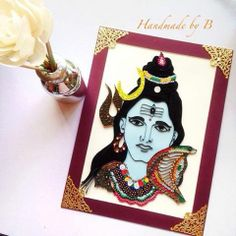 Quilled Shiva- Handmade by B