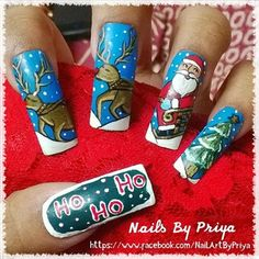 Merry Christmas by priyaa - Nail Art Gallery nailartgallery.nailsmag.com by Nails Magazine www.nailsmag.com #nailart