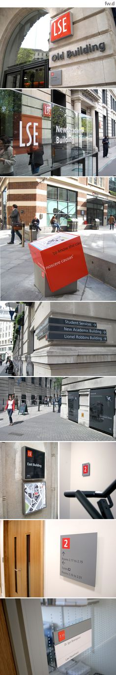 Signage design for London School of Economics by fwdesign. www.fwdesign.com