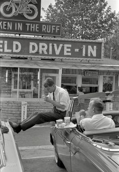 Campaign Stop, Spring 1960 Robert Kennedy at a drive-in in Bluefieldduring his brother's quest for the 1960 Democrat...