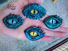 Items similar to Dragon eye, eye pendant on Etsy Fimo Clay, Polymer Clay Projects, Polymer Clay Art, Clay Crafts, Dragon Birthday, Dragon Party, Clay Dragon, Dragon Eye, Biscuit