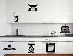 Kitchen Appliances Wall Sticker. When there is such an interesting and astounding guide to take you swiftly to the most essential kitchen tools, cooking becomes a lot more fun and truly entertaining. http://walliv.com/household-kitchen-aplliance-2-wall-sticker-wall-art-decal
