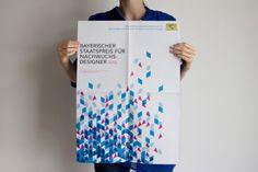 Design of the poster for Bayerischer Staatspreis für Nachwuchsdesigner 2012. By Rookman / studio. #rookman #bsp2012 #staatspreis #nachwuchsdesigner #design #poster