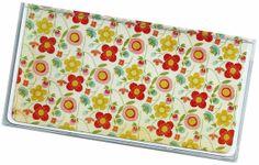 Checkbook Cover Tangarine Floral vinyl by rabbitholeonline on Etsy, $6.25