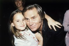 George Jones and His Daughter | George Jones with his daughter Georgette in Los Angeles in this April ...