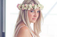 Elaine Jane Flowers floral crown wedding