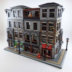 Resultado de imagen para lego building existing parts ignoring color Kitchen Design Open, Open Kitchen, Kitchen Designs, Casa Lego, Lego Decorations, Big Lego, Minecraft, Lego Modular, Lego Building
