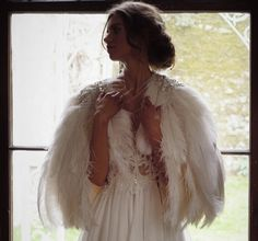 Clarabella, Ostrich feather plume cape with rhinestone beaded detail - Style 301 (copy)