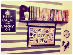 shelf of books organized with style