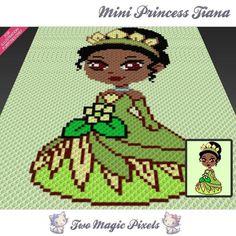 Mini Princess Tiana C2C crochet graph | Craftsy