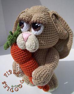 Sculpt Gurumi -Benton the Amigurumi Bunny..pattern $6.20
