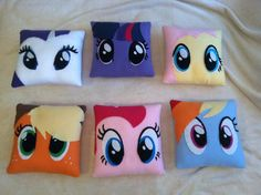MLP Pillow Plush Set Free Shipping by CutesyKats on Etsy, $150.00