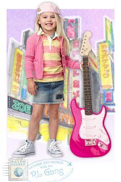Ralph Lauren Childrenswear Striped Rugby Shirt Toddler Girls #belk #kids