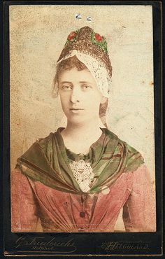 Woman from Helgoland (German Archipelago in the North Sea) #Helgoland