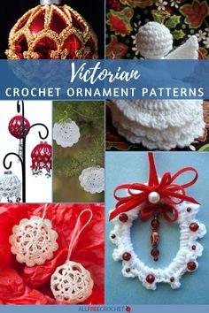14 Free Victorian Crochet Ornaments Crochet Ornament Patterns, Crochet Snowflake Pattern, Crochet Ornaments, Christmas Crochet Patterns, Crochet Snowflakes, Crochet Flower Patterns, Crochet Flowers, Crochet Christmas Wreath, Christmas Baubles
