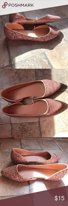 Glitter flats American eagle Never worn, in perfect condition American Eagle Outfitters Shoes Flats & Loafers