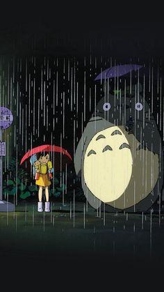 My Neighbor Totoro Art Illust Rain Anime #iPhone #6 #plus #wallpaper