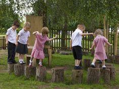 Stepping Logs | Adventure Playground Equipment