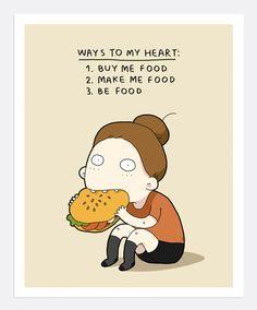 Ways To My Heart Print A4 | Lingvistov