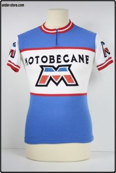 MAILLOT CYCLISME EQUIPE MOTOBECANE 1978 CYCLE rfFTO437. Molteni Cycling ·  Vintage Wool Cycling Jerseys 72897dd12