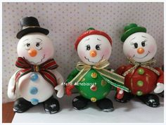Enfeites de natal boneco de neve