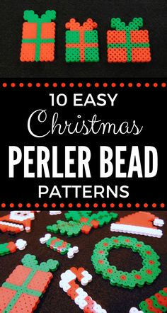 Easy Christmas Perler Bead Patterns