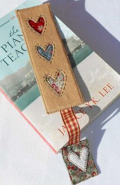 Heart bookmark pattern - free on Craftsy