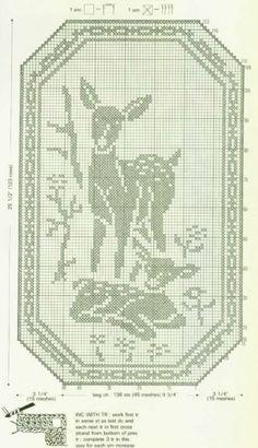 Schemes Animals for fillet crochet rådyr