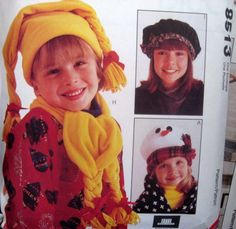 McCALLS Sewing Pattern 8513 - Children's Hats and Caps