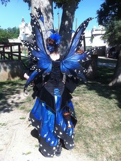 Blue Morpho Fairy Costume Back, via Flickr.