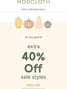 8de1e06410cc35 This sale is  pumpkin  to talk about. - Modcloth Email Marketing