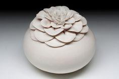 White lotus flower vase
