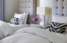 pink and grey bedrooms | The Enchanted Home: Who has the biggest, baddest, fluffiest, bed?