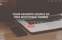 Бесплатный адаптивный шаблон лэндинговой страницы на Twitter Bootstrap