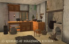 Plumb Bob Keep <> The Sims 2 Middle Ages • View topic - 10 recolors of Buggybooz's Kitchen