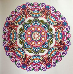 1000 Images About Completed Adult Colouring Books And