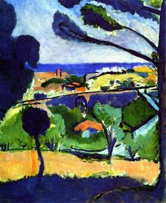View of Collioure and the Sea / Henri Matisse - 1911