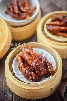 Steamed Chicken Feet in Black Bean sauce — Yankitchen – 80 Days Restaurant Pork And Beef Recipe, Pork Recipes, Cooker Recipes, Chicken Recipes, Chicken Menu, How To Cook Chicken, Chinese Side Dishes, Chinese Food, Chinese Desserts