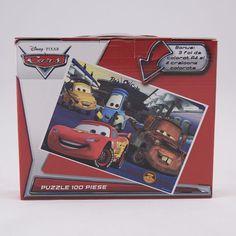 Servieta cu puzzle Cars cu licenta:   puzzle 100 piese 35,5x48 cm 3 foi A4 de colorat 4 creioane colorate Disney Pixar, Puzzles, Video Game, Games, Artwork, Character, Madness, Work Of Art, Puzzle