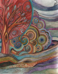 red tree by Megan Noel