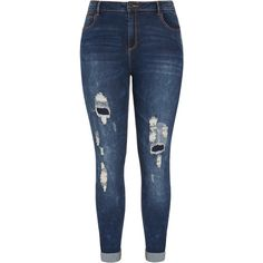 Dismantle Skinny Jeans ($89) ❤ liked on Polyvore featuring jeans, cut skinny jeans, denim skinny jeans, slim fit blue jeans, grunge jeans and skinny fit jeans