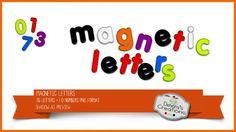 Magnetic Letters by Debora's Creations (CU)