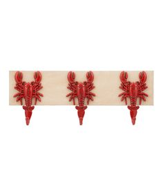 Another great find on #zulily! Three-Lobster Wall Hook by Lifetime Brands #zulilyfinds