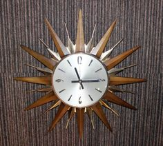 VINTAGE RETRO Sunburst Metamec WALL CLOCK