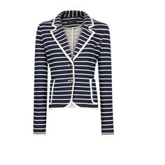 MANGO Contrast trimming blazer ($80) ❤ liked on Polyvore