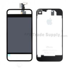Apple iPhone 4S Transparent LCD and Digitizer Assembly with Battery Door and Home Button etradesupply.com