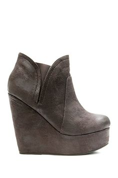 Two Lips Too Elite Distressed Wedge Bootie by Non Specific on @HauteLook