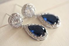 Bridal jewelry - Fiori blue (ready to ship) from MillieIcaro