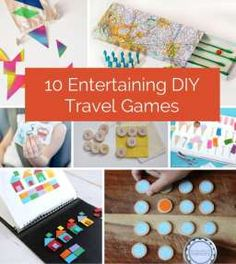 Fun ideas for games on the go when traveling with kids.