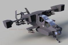 Reaper Gunship (FR 3) by Quesocito.deviantart.com on @DeviantArt
